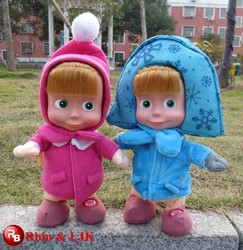 Russian talking and walking masha and the bear toy