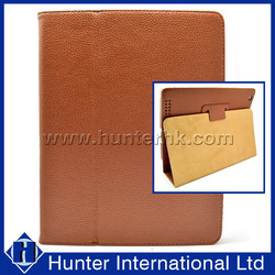 Wholesale Standable PU Leather Tablet Case For iPad 2