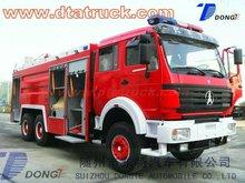 Nord Benz 6 * 6 mousse de camion, 300hp Mercedes Benz technologie camion de pompiers usine vente ODM / OEM M : 86 - 15271357675