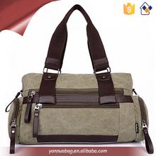 newest style men fashion multi function designer canvas pfactical handbag for free