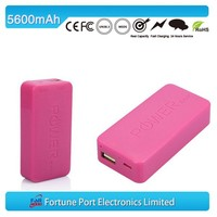 5600mah Emergency Power Bank Lithium-ion Battery Pack Fro Smart Phone