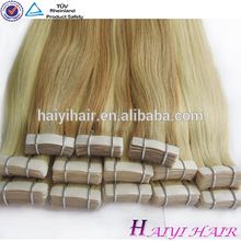 High Quanlity best selling russian hair natural Indian black color pu hair