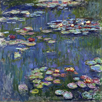 Hot selling custom famous oil painting on canvas china artist copy monet