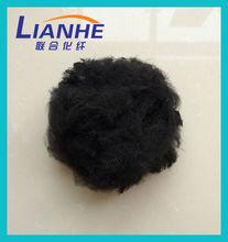 Length 64mm fineness 7D 100% black polyester staple fibre