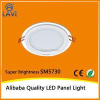 alibaba led lights 12w glass panel light round shape ultra thin design daylight 6000K
