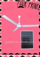 48''/56'' Energy Saving solar ceiling fan,12V solar attic fan