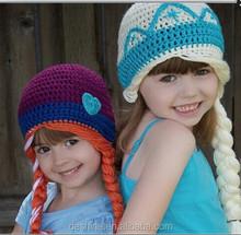 wholesale handmade Princess Anna and Queen Elsa frozen Crochet Hats MX011
