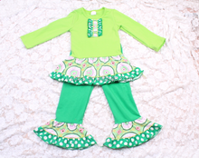 kids old fashioned clothes sets lovely children's girls 2pcs cotton clothes sets