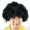 Hot sale black color cheap afro synthetic hair party wigs