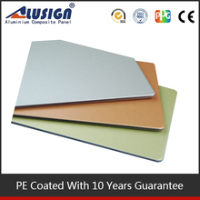 Cheapest wall paneling PE Coating ACP we offer 5-8 years environment protecting type furnishing