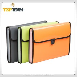 Non-handle plastic expanding file,decorative expanding file folders,PP expandign file embossed with diagonal lines