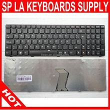 Teclado for Lenovo G580 G585 V580 Z580 Black frame black Spanish SP la laptop keyboard T4G8 NSK-B5QSW 25206722 9Z.N5SSW.Q0S