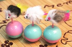 Wholesale Plastic Tumbler Mouse Cat Toy PT028
