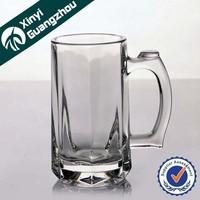 custom souvenir beer mug / newest novelty freezer beer mug / personalized pressed glass cup