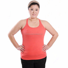 Customized Laides Blank Spandex Cotton Tube Tank Top in Plus Size