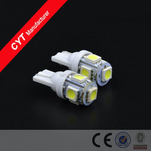 12V T10 1.25W 5SMD 5050 LED Car White Lights Clearance Lights