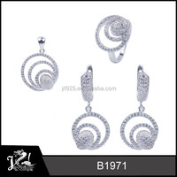 2015 new products silver jewelry,fancy bridal jewelry set