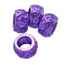 colore viola in lega di zinco perline braccialetto di metallo per fare braccialetti