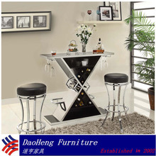 Modern high top glass bar table used for bar / pub / club / home