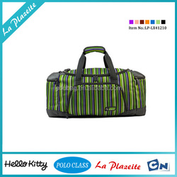 Popular lightweight polyester green travel bag with four wheels