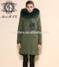 toptan ceket pamuk kabuk uzun ceket blackgreen Kore tarzı moda toptan ceket