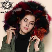 Women's Winter Thick Removable Fur Collar Coat Outerwear Fur parka