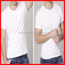 100% plain white organic cotton t-shirts