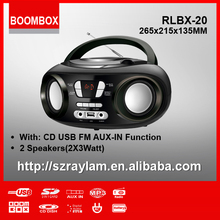 FM RADIO WITH WIDE FREQUENCY AND PORTABLE CD PLAYER BLUETOOTH SPEAKER