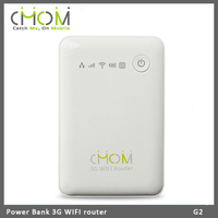 Dual mode 3G WCDMA & EVDO full band WIFI router with power bank 5200mAh --- G2