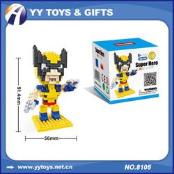 HSANHE 8105 Super Hero Plastic Nano Building Blocks Toys