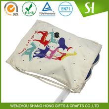cotton canvas drawstring shoe bags