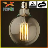 Newest g125 bulb 12w 1200LM led filament bulb Clear Glass CE/ROHS