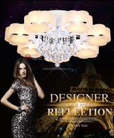 Crystal LED Ceiling light/ Crystal light with PC shade
