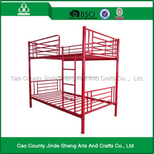 Home furniture red metal bed / metal double bunk bed with good quality