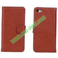 Genuine Leather Flip Case for iPhone 5C with Card-slot