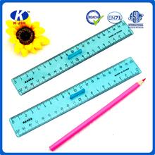 Competitive Price fashion design 20cm blue transparent plastic advertising ruler