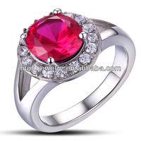 elegant stainless steel high quality thailand diamond rings