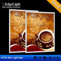 Edgelight AF3A aluminium profile led light box advertising equipment