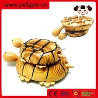 outdoor toy wooden animal Mother child turtle