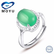 Hot sale .retro style emerald natural stone women finger ring