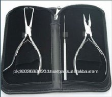 Hair extensions Pliers, Stainless steel in Artificial leather case
