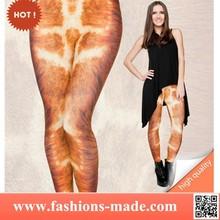 Leggings Print 3d Giraffe Fur
