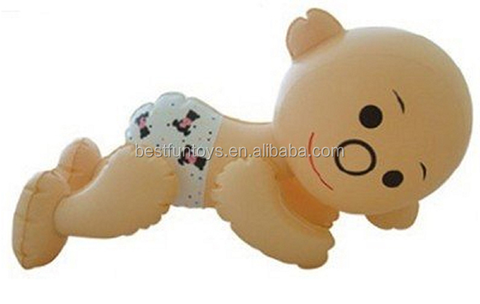 Vinyl Inflatable Baby Dolls Plastic Soft Baby Joke Blow Up Small ...