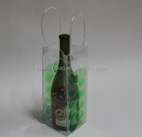 Non-toxic eco-friendly welded PVC wine cooler bag
