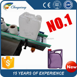 hot sale automatic adhesive2 sides labeling machine, bucket labeling machine (trade assurance)