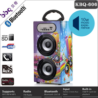 classic black with LED marquee usb sd mp3 wooden active tower speaker with Bluetooth