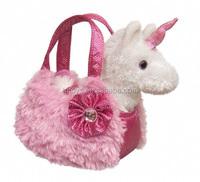 Girls best friend plush horse toy in a bag