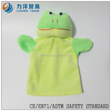 nice plush hand puppets(frog), Customised toys,CE/ASTM safety stardard