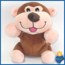 13cm Small animal design sitting plush monkey with embroidery