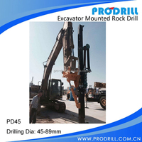Excavator Mounted Hydraulic Drill Attachment for Stone Quarry